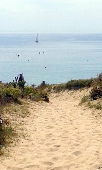 L'accès à la plage